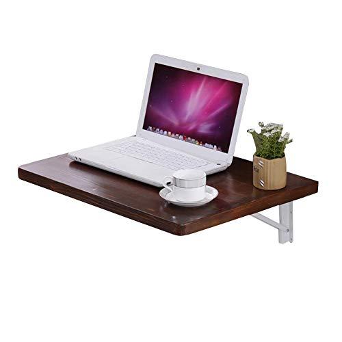BDD Escritorios, Simple Y Practico Simple Idea Mesa de Pared Simple Idea Soporte para Laptop Mesa de Comedor Plegable Cocina Encimera Escritorio de Oficina, 3 Tamanos, 5 Colores, Marron, 100X45Cm,