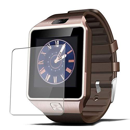Vaxson 3 Unidades Protector de Pantalla, compatible con Smartwatch smart watch DZ09 [No Vidrio Templado] TPU Película Protectora
