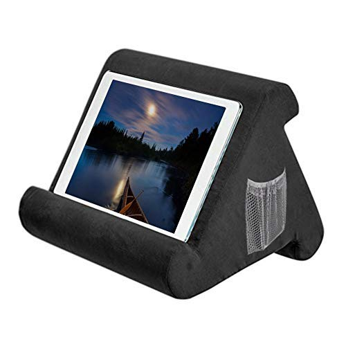 ritapreaty Soft Pillow fur iPads Pillow Lap Stand fur Tablets E Reader Smartphones Bucher Zeitschriften Black