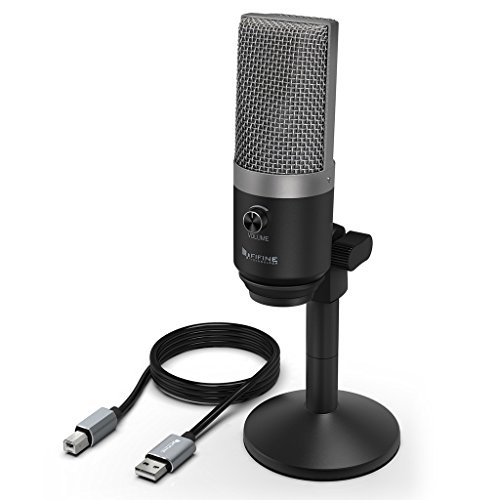 USB Microphone,Fifine PC Microphone for Mac and Windows Computers,Optimized for Recording,Streaming Twitch,Voice Overs,Podcasting for YouTube,Skype Chats-K670