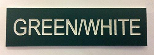 Graviertes Mitarbeiter-Namensschild, für Schule, Bar, Restaurant, Fabrik, Unternehme, Büro etc., acryl, grün, RECTANGLE 75x25mm