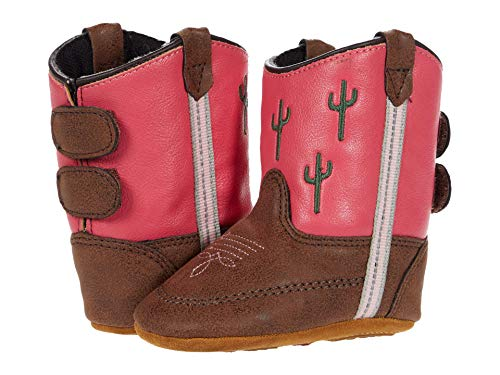 Old West Kids Boots Baby Girl's Ava (Infant/Toddler) Brown 1 Infant M