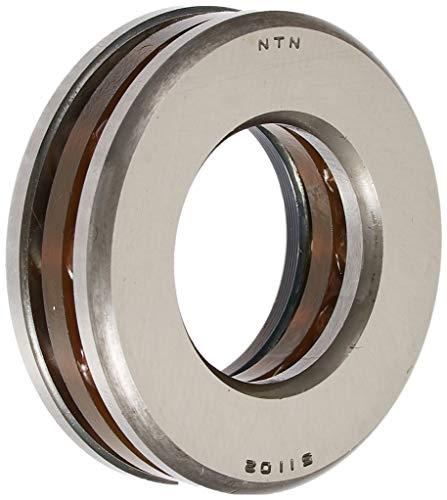 NTN Bearing 51102 Thrust Ball Bearing, Extra Light Series, Single Direction, Flat Seat, Steel Cage, 15 mm Bore ID, 28 mm OD, 9 mm Width, Open
