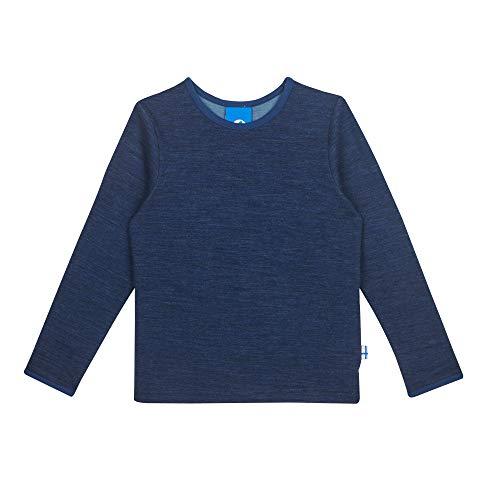 Finkid Taamo Wool Blau, Kinder Freizeitpullover, Größe 80-90 - Farbe Navy - Denim