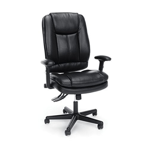 OFM ESS Collection Ergonomic High-Back Bonded Leather Executive Chair, in Black (ESS-6050)