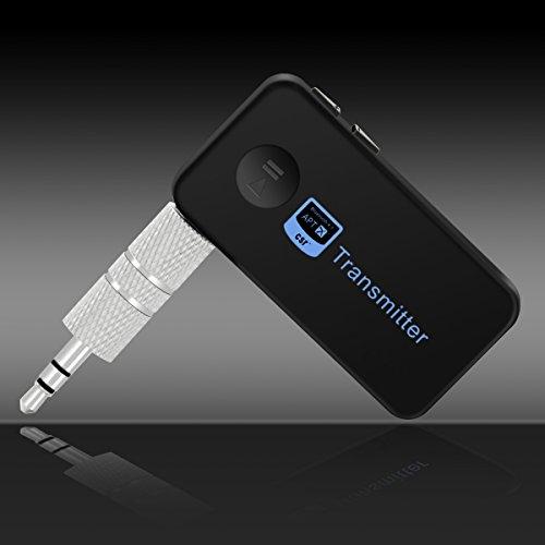 Miya Kabelloser Bluetooth 4.1 Sender Audio Adapter Mini Wireless Sender 3,5 mm Stereo Aux Audio Lautsprecher TV Adapter für Kopfhörer Lautsprecher TV PC Auto Stereoanlagen.