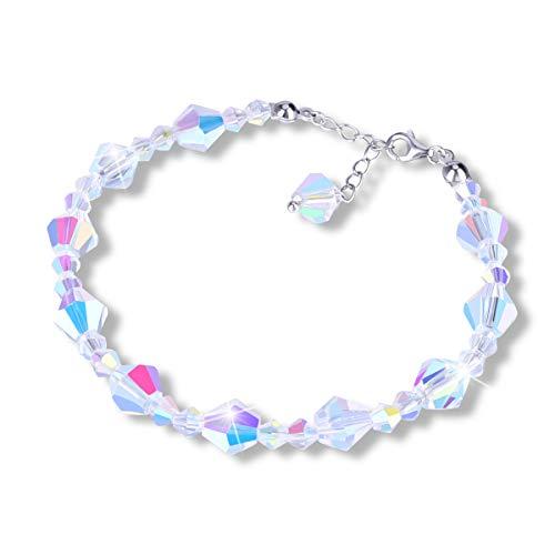 X-Mile Diamant-Form Kristall Charming Armband Einstellbar Romantisch für Hochzeit Dating Party Ball Graduation Damenmodelle Frauen Mädchen 2,4 × 2,4 × 0,8 Zoll