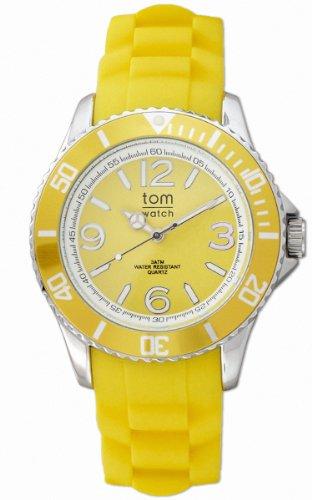 tom watch Damen Analog Quarz Uhr mit Gummi Armband WA00009