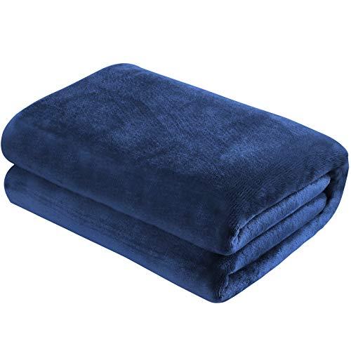 Yoofoss Fleece Throw Blanket Double/Twin Size Extra Large Bed Fleece Blankets Bedspread Super Soft Fluffy Flannel Velvet Plush Microfiber Sofa Blanket 150x200cm/60x80in (Blue)