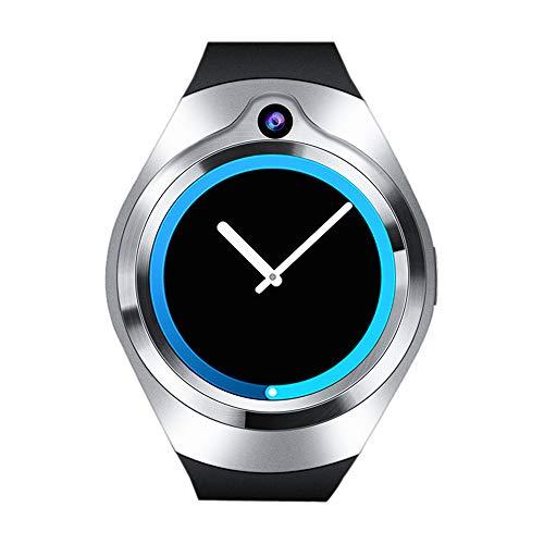 Kariwell 1.3inch Full Round Screen Smart Watch - gsm 512M+8G Quad Core Android 5.1 WiFi Smart Watch con 5.0 MP cámara Kari-80, 45 x 52 x 11 mm, Plateado
