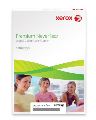 Xerox 003R98092 wasserfestes Papier Premium NeverTear DIN A4 195 µm, circa 258 gr./m², Schachtel mit 100 Blatt, weiß
