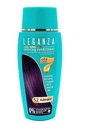 Leganza Färbender Conditioner Farbe 52 Aubergine Mit 7 Natürlichen Ölen Ammoniak und Paraben frei