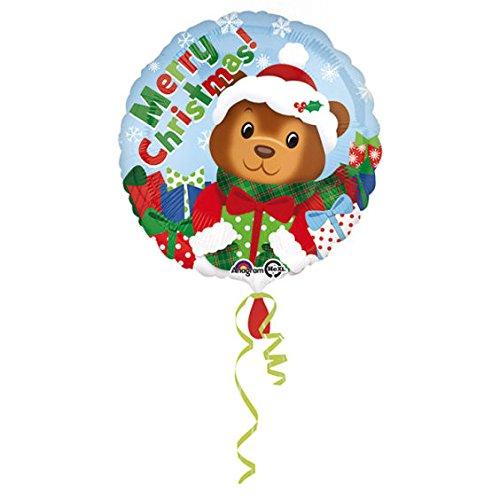Unbekannt Weihnachtsbärchen' Folien-Rundballon, ca. 43 cm Ø, ohne Gasfüllung/ohne Gruß-Karte