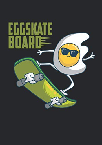 Notizbuch A5 dotted, gepunktet, punktiert mit Softcover Design: Lustiges Ei Skateboard Skate Eggskate Board Witz Geschenk: 120 dotted (Punktgitter) DIN A5 Seiten