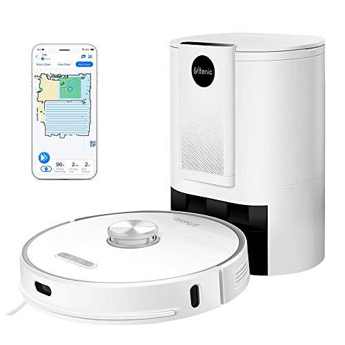 Ultenic T10 WLAN Staubsauger Roboter mit Absaugstation - Laser Navigation, 3000Pa Saugroboter mit Wischfunktion - leise, 2in1 Saug- und Wischroboter - Ideal für Teppiche - Alexa Echo, Google Assistant