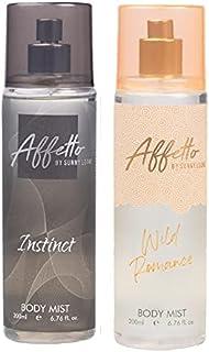 Affetto By Sunny Leone Instinct & Wild Romance Body Mist - For Women 200ML Each (400ML, Pack of 2)