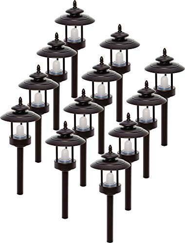 12 Pack Westinghouse 100 Lumen Low Voltage LED Pathway Light Landscape Lights (Bronze)