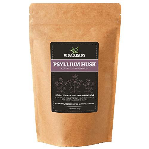Psyllium Husk Powder | All-Natural Pure Dietary Fiber Supplement | Non-GMO | Keto Friendly | Digestion Aid