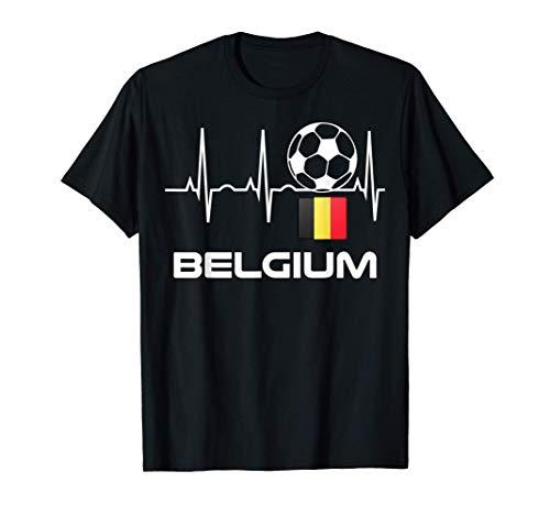 Belgien Fußball-Trikot - Belgischer Fußballherzschlag T-Shirt