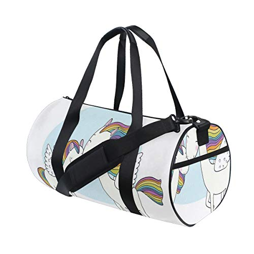 PONIKUCY Bolsa de Viaje,Repetir el patrón artístico Dibujado de Flores románticas,Bolsa de Deporte con Compartimento para Sports Gym Bag