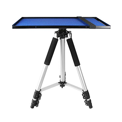 hongbanlemp DJ Presentation Mount Projector Laptop Stand, Multifunctional DJ Racks Stand, Adjustable Height Tripod, Universal Floor Stand for Laptop Projector, Silver Projector bracket