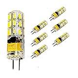 Bombillas LED de alta potencia 6 paquetes G4 Bombillas LED de 2W CA/CC 12V 24 Reemplace la lámpara halógena de 20W Lámpara de lámpara Proyector Led Lámpara de bombillas de bajo consumo Blanco frío