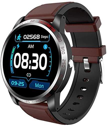 Reloj inteligente ECG PPG presión arterial ritmo cardíaco rastreador de ejercicio de moda hombres s impermeable reloj inteligente deportivo para iOS Android D