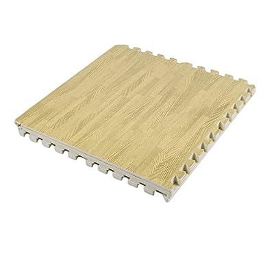 GiODLCE Puzzle Exercise Floor Mat, Protective Flooring Mats EVA Foam Interlocking Tiles for Home Gym Equipment Matting, 6Pcs