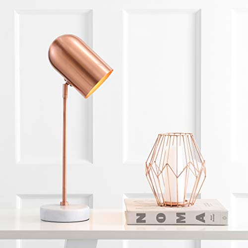 Safavieh Lighting Collection Charlson Copper 22-inch Bedroom Living Room Home Office Desk Nightstand Table Lamp (LED Bulb Included)