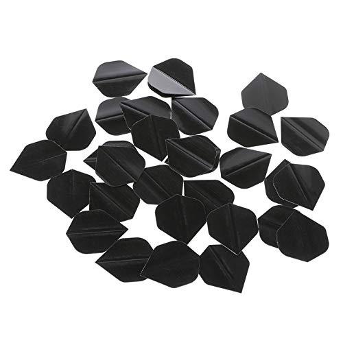 NO LOGO RCKJB 30 PC/Set Qualitäts-Einfach Pure Black PET Dart Flights Fun