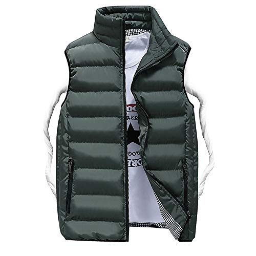 CHIYEEE Heren Winter Gilet Warm Mouwloos Jas Down Katoen Jas Vest Top M-5XL