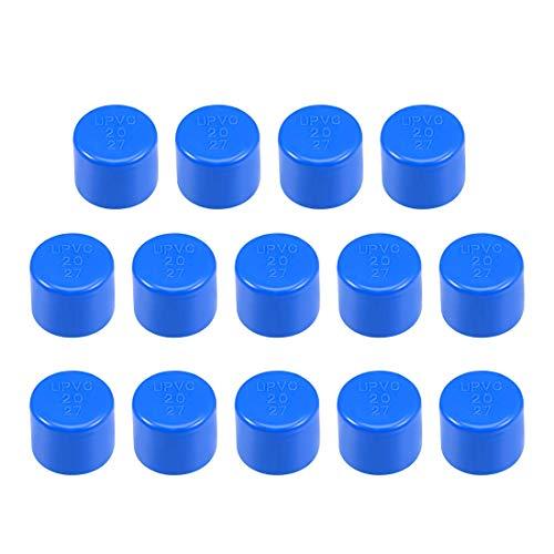 20 mm Allegato 20 raccordo del tappo del tubo in PVC, inserti scorrevoli DWV (scarico dei rifiuti di scarico) Irrigazione piscina insonorizzante, blu 14 pezzi