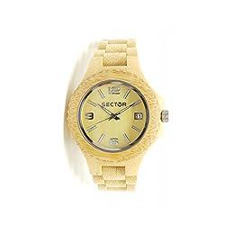 Colore del Cinturino: Oro Dimensione della Cassa: 38mm Forme de la montre: Rotonda Indici: A Bastoni Materiale Cassa: bois