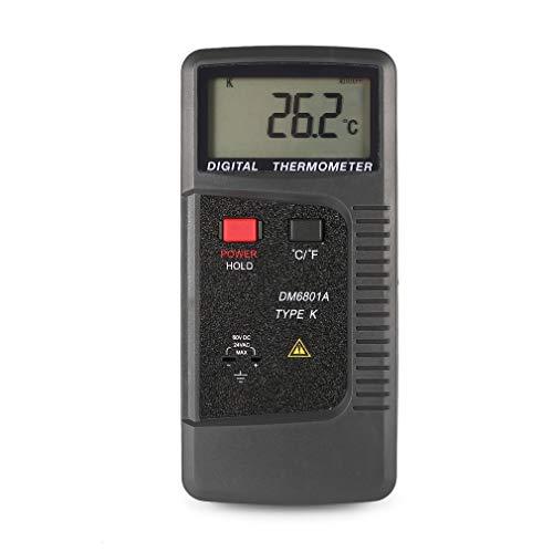 DM6801A Digitales Thermometer, Kontakt-Thermometer, doppelter Kanal, K/J