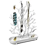 Portagioie 26 x 9 x 32 cm, albero portagioie con mensola, porta gioielli, organizer per gioielli