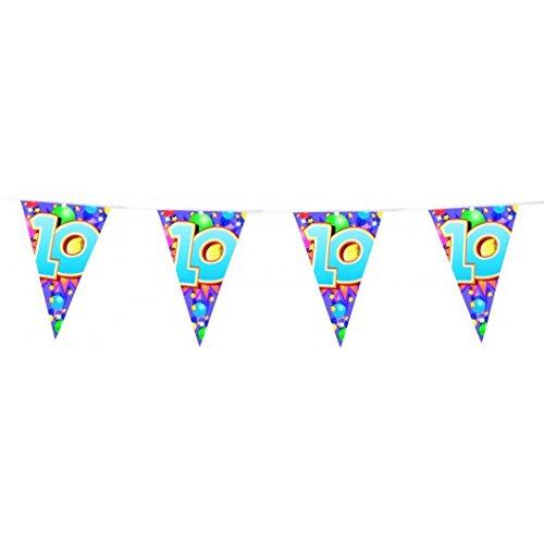 Guirlande n°10 Fanions triangulaires 6 mètres coloré decoration anniversaire jubilé