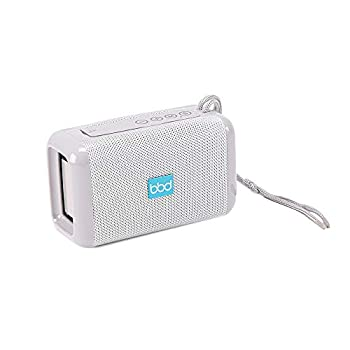 True Wireless Stereo Powerful Portable Hi-Fi Bluetooth Speaker Hands-Free Calling FM/MP3 Function Long 10M Range Wide Compatibility w/All Wireless Devices by Blue Beat Digital [White]