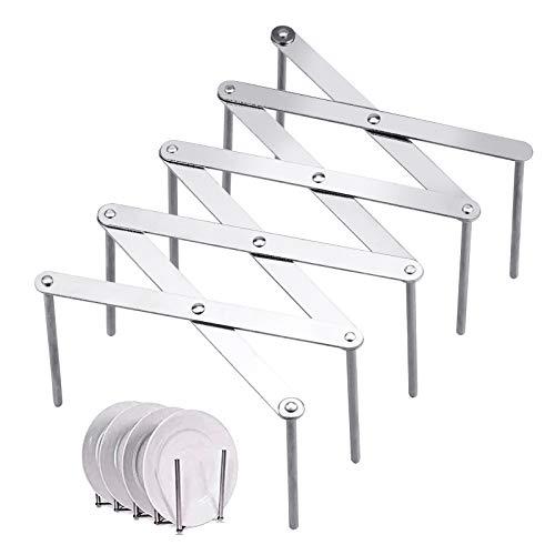 Winfred Topfdeckelhalter Multifunktion Dampfer Rack Deckelhalter Ausziehbare Topfdeckel Halter Pot Lid Organizer Küchenwerkzeuge für Küchen und Grill