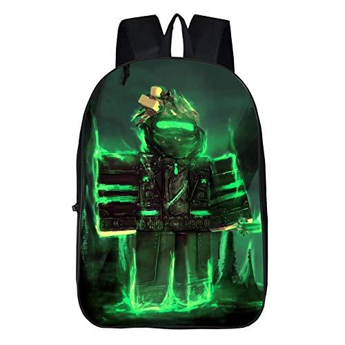 NINIUBAL Unisex Roblox 3D Juego de impresión School Bag para Niño y Niña Mochilas Escolares Mochila Casual Mochila de Lona