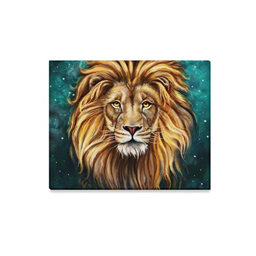 ENEVOTX Wall Art Painting Lion Aslan Digital Painting Lion Aslan Prints On Canvas The Picture Landscape Pictures Oil for Home Modern Decoration Print Decor for Living Room