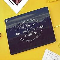 iPad Pro 10.5 ケース/iPad Air 2019 ケース(Air3)高級ソフトPUレザー製 iPad 10.5 カバー オートスリープ&スタンド機能付き ひび割れ防止 防衝撃デザイン 手帳型10.5インチタブレットスマートケース カバー装飾的なグランジ山の風景矢印で冒険エンブレム野外活動のシンボル