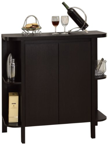 Monarch Specialties Cappuccino Finish Bar Cabinet