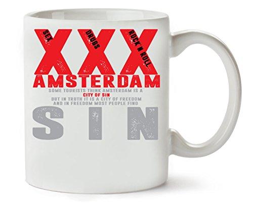 C+P Amsterdam   Collection   of   Rock N Roll   Drugs   Sex   Klassische Teetasse Kaffeetasse