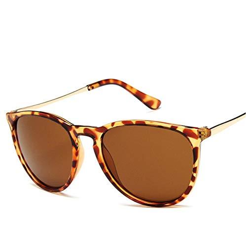 YUFUD Gafa de sol Vintage Cat Eye Sunglasses Mujer Gafas De Sol Sun Rays Protection Mirrored Sun Glasses Leopard A
