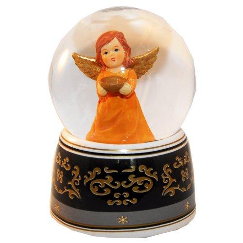 20035 Bola de nieve navidad ángel con musica medida 140 mm