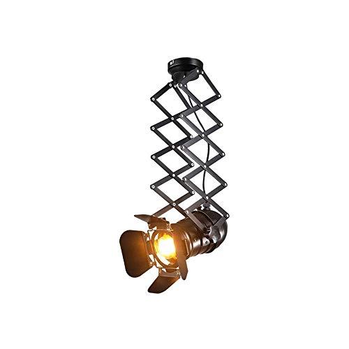 JLL Teleskop Loft Industrie Eisen Scheinwerfer Vintage Deckenleuchten LED Shop Licht Schienenlicht Nordic Pendelleuchte Wandleuchten Scheinwerfer for Bar Cafe Shop