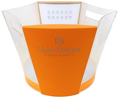 Veuve Clicquot Champagner Flaschenkühler Luminous mit LED Beleuchtung Leuchtkühler Design Eiskübel Eiswürfel Behälter Kühler