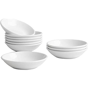Dipping Sauce Dishes, Soy Sauce Dipping Bowls, Dipping Bowls, Porcelain Watercolor Palette - 10 Packs, White, 3 oz