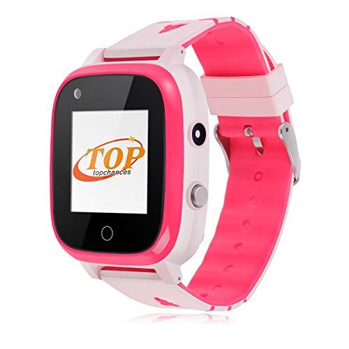 Smartwatch Kinder, Bluetooth-Uhr mit GPS-Tracker, Alarm, Schrittzähler, Kamera, SOS, wasserdicht,Touchscreen WiFi Smartwatch Kinder Smartwatch Kinderuhr mädchen smartwatch für Kinder