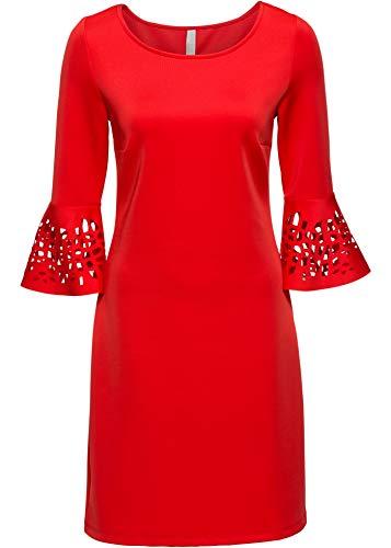 bonprix Kleid mit Cut-Outs rot 94 cm 44/46 für Damen